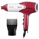 Uscator de par Zass ZHD 02, 2000 W, 2 viteze, 3 setari temperatura, rosu cu alb