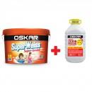 Vopsea lavabila Superweiss Super-lavabil Oskar 15l + Amorsa 4l