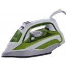 Fier de calcat Rohnson R349, 2750 W, talpa ceramica, 0.38 l, 160 g/min, sistem anti-calcar, alb cu verde