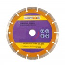 Disc diamantat, cu segmente, pentru debitare materiale de constructii, Lumytools LT08720, 115 x 22 x 2 mm