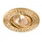 Spot incastrat ELC 329 70098, GU5.3, argint/perla aur