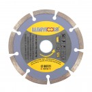 Disc diamantat, cu segmente, pentru debitare materiale de constructii, Lumytools LT08721, 125 x 22 x 2 mm