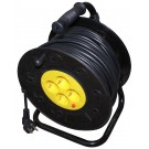 Derulator cablu electric, 4 prize, 25 m, 3 x 2.5 mmp, contact de protectie