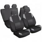 Huse auto pentru scaun, Carmax, protector spate, negru + gri, set 9 bucati