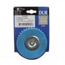Perie circulara, cu tija, pentru inox /aluminiu / metale moi, Peromex 7111101G, diametru 100 mm