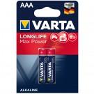 Baterie Varta Maxi Tech 4703, R3 / AAA, Alkaline, 2 buc