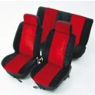 Huse auto pentru scaun, Unitec, universale, rosii, set 6 bucati, 50 x 33 x 7 cm