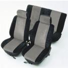Huse auto pentru scaune, Unitec, universale, basic, antracit, set 8 bucati, 50 x 33 x 7 cm