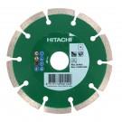 Disc diamantat, cu segmente, pentru debitare materiale de constructii, Hitachi, 115 x 22.2 x 7 mm