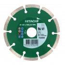 Disc diamantat, cu segmente, pentru debitare materiale de constructii, Hitachi, 125 x 22.2 x 2 x 7 mm