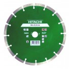 Disc diamantat, cu segmente, pentru debitare materiale de constructii, Hitachi, 230 x 22.2 x 2.4 x 10 mm
