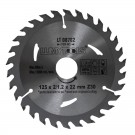 Disc circular cu widia, pentru lemn si PAL, Lumytools LT08762, 125 x 22 mm