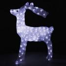 Ren 160 LED-uri, alb, Hoff, acril, 75 cm