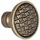Buton pentru mobila, metalic, alamit antic, 35 x 30 mm