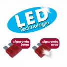Sigurante auto plate cu LED