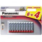 Baterie Panasonic EveryDayPower, R3 / AAA, 1.5V, 10 buc