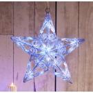 Stea 3D 40 LED-uri alb+albastru, Hoff, acril, 40 x 40 cm