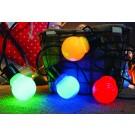 Instalatie LED 10 globuri multicolore