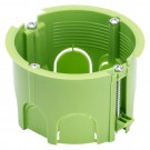 Doza aparat gips carton, Gewiss GW24234PM GC, incastrata, modulara, 65 x 45 mm, verde