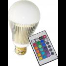 Hoff bec LED 4W RGB+telecomanda