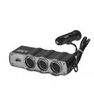 Priza bricheta auto Ro Group, 3 cai de iesire + USB 5 V, 12 / 24 V