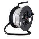 Derulator cablu electric D-4CP 53339, 4 prize, 50 m, 3 x 2.5 mmp, contact de protectie