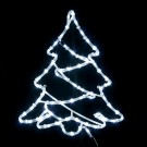 Decoratiune luminoasa cu 72 LED-uri albe cu lumina rece, Hoff 62110051, alimentare priza