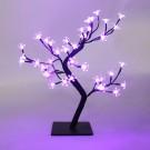 Copac cu 48 LED-uri violet, Hoff, 45 cm, alimentare priza