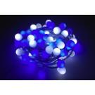 Instalatie sfere brad Craciun, Hoff, 100 LED-uri albe si albastre, 7.92 m, controler, interior / exterior