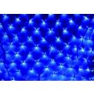 Plasa Craciun, Hoff Net 735120, 108 LED-uri albastre + 12 LED-uri flash, 2 x 2 m, interior / exterior