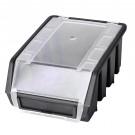 Cutie pentru depozitare, Patrol Ergobox 2 Plus, negru, 212 x 116 x 75 mm
