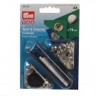 Set capse pentru confectii sport /camping  + dispozitiv montare, Prym 114390 201