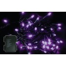 Instalatie brad Craciun, Hoff, 180 LED-uri violet, 17.9 m, controler, interior / exterior, alimentare baterii