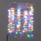 Instalatie brad Craciun, Hoff, 100 micro-LED-uri multiculore, 10 m, interior, cu fir cupru