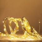 Decoratiune 10 ramuri aurii cu 200 micro-LED-uri cu lumina calda, Hoff, alimentare priza