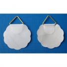 Agatatori plate, autoadezive, pentru tablou, metal + hartie, 25 mm, set 10 bucati
