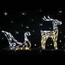 Sanie cu 1 ren bicolor cu 140 LED-uri, lumina calda si lumina rece, Hoff