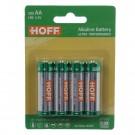 Baterie Hoff, LR6 / AA, Alkaline, 4 buc