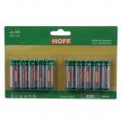 Baterie Hoff, LR6 / AA, Alkaline, 10 buc