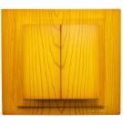 Intrerupator dublu, Mono Electric Larissa, incastrat, rama inclusa, stejar