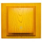 Intrerupator cap scara simplu, Mono Electric Larissa, incastrat, rama inclusa, stejar