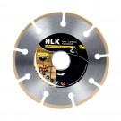 Disc diamantat, cu segmente, pentru debitare lemn, HLK 320023, 115 x 22.23 x 1 mm