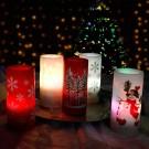 Proiector LED candela Hoff 58930015, alimentare baterii sau cablu USB
