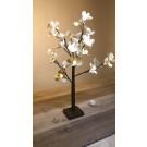 Copac cu flori, 24 LED-uri cu lumina calda, 60 cm, alimentare baterii