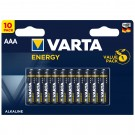 Baterie Varta Energy, LR03 / AAA, alcalina, 10 buc