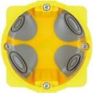 Doza gips carton Bticino PB502N, incastrata, modulara, 2 module, 71 x 50 mm