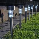 Lampa solara Hoff Stick, inox, 36 cm - 6 buc