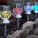 Lampa solara LED RGB Hoff, prismatica, 36 cm