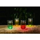 Lampa solara microLED Hoff, borcan colorat, 13.5 cm