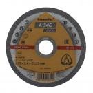 Disc debitare inox si metal, Klingspor A 346 Extra, 125 x 22.23 x 1.6 mm